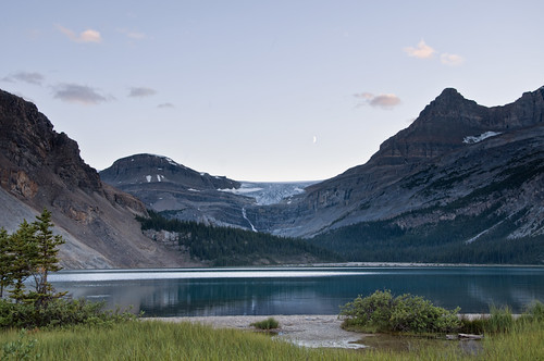 Bow Lake, Bow Glacier (and falls), Crescent Moon