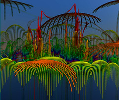 Tropical Isle (freetoglow (Gloria)) Tags: photoshop sensational fractal visualart amazingcolors hypothetical incendia exploreworthy wowiekazowie photoartwork sharingart awardtree colourmania amazingeyecatcher