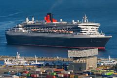 Queen Mary 2 and Rockheim in Trondheim, Norway (Arve Johnsen) Tags: cruise norway norge norwegen cruiseship trondheim qm2 queenmary2 cunard norvege brattra rockheim nikond3