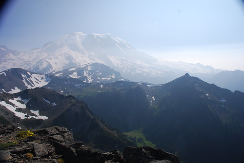 Mount Rainier view from Mount Fremont Lookout trail, Mount Rainier National Park, WA