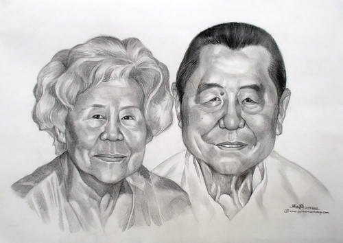 Couple portraits in pencil 120810