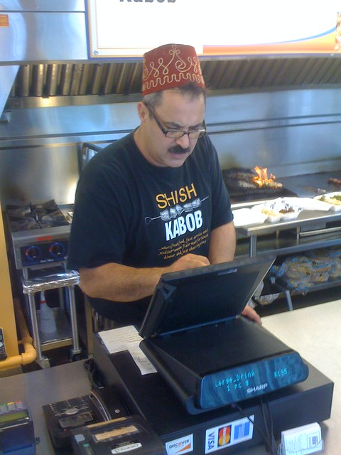 the be-fezzed master of kabobs, cc by-nc-sa image from John Cmar on Flickr