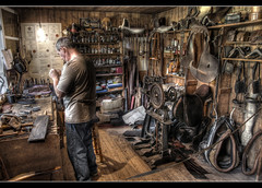 The Saddlery (Roger.C) Tags: man st shop museum wales canon working sigma tools business welsh hdr wfc fagans saddlery 1770mm 3exp