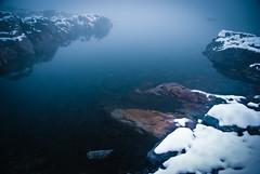 Chamonix - Lacs Noirs [1] (dibaer) Tags: our lake snow france water fog landscape rocks eau lac planet neige paysage chamonix brouillard rochers d80 nikond80 lacsnoirs