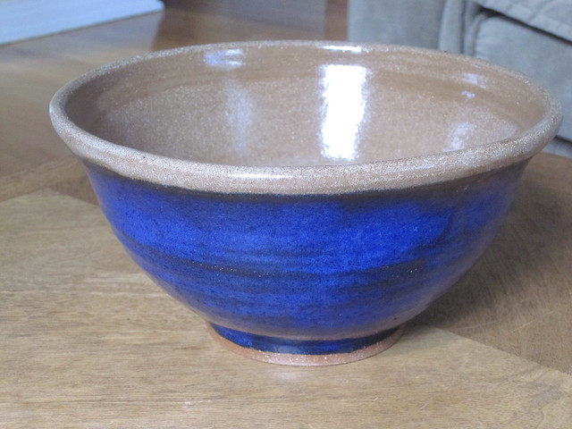 Deep blue large bowl