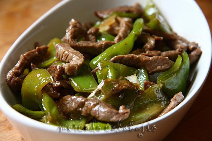Recetas De Cocina China | Ternera Frita Con Pimientos Verdes Cocina China Mercado Calabajio