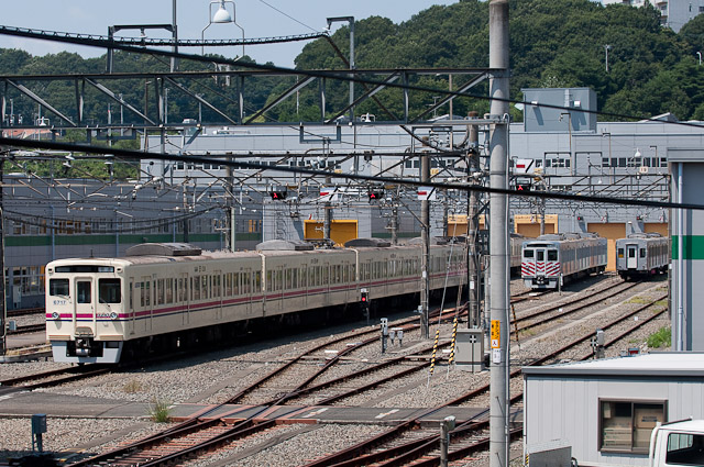 京王電鉄6000系6717F 若葉台検車区