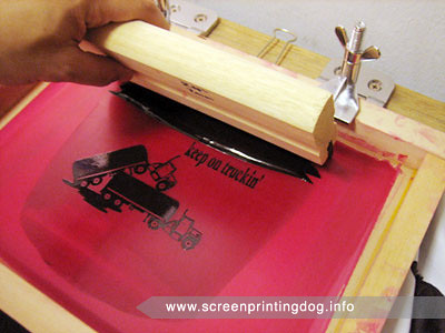screen printing flooding image