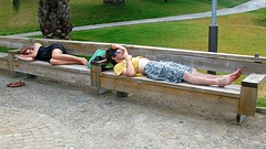 Durmiendo en Montjuïc
