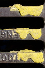 Eng Toc (Dave Chantrey) Tags: yellow closeup raw drain leamington canonef50mmf14usm canoneos40d roadgraphics