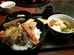 京都で食べたお昼、ゆば天丼