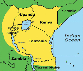 Map of the Swahili Language