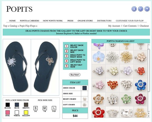 Chanclas espectaculares , con charms intercambiables de Popits