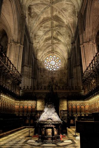 Seville cathedral choir. Coro de la catedral de Sevilla