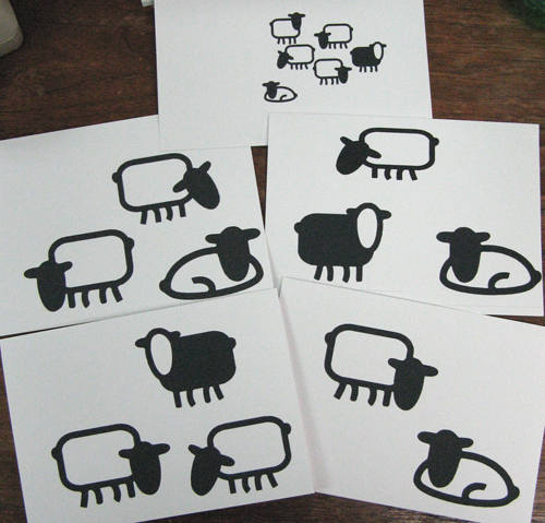 Sheep notecards