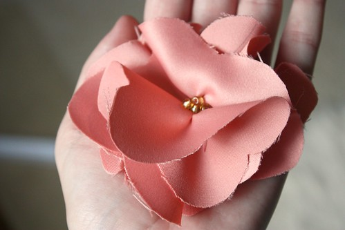 Fluffy Fabric Flower Tutorial