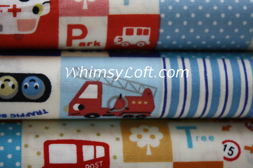 Road construction patches Cotton Fabric