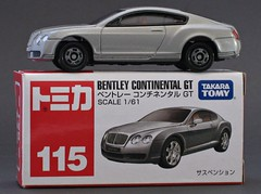 Bentley Continental GT (nighteye) Tags: continental gt takara bentley tomy 161 tomica no115