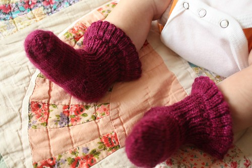 "Bordeaux ""Better than Bootties"" Baby Socks"