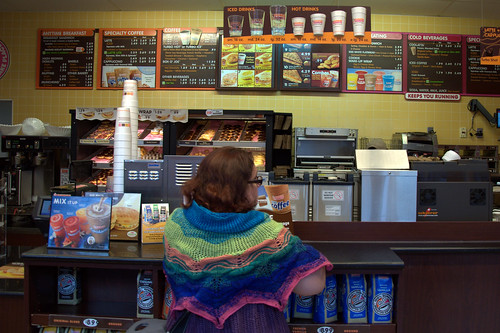 The Shawl went to Dunkin Donuts