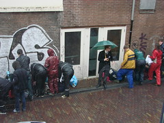 Steppin' Out (indigo_jones) Tags: morning holland students netherlands rain umbrella university utrecht boots nederland luggage bags tradition morningsuit regen paraplu introduction unitas rainsuit ontgroening