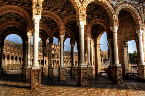 Seville. Columns. Plaza de españa. Columnas. Sevilla.