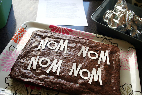 Making Nom Nom Nom Nom Brownies
