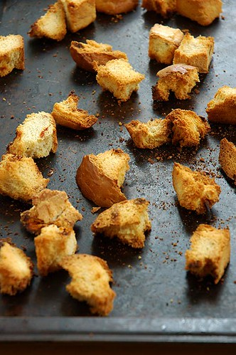 oven-baked croutons