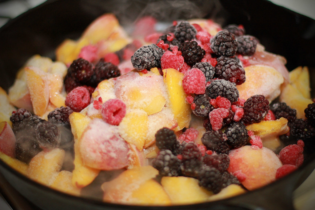with sour blackberry peach cobbler with blueberry peach sour cream ...