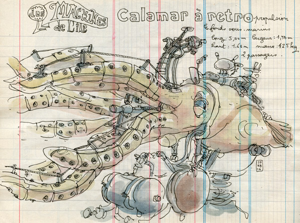 calamar à retropropulsion