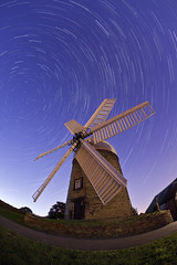 Heague Windmill (night photographer) Tags: moon windmill night canon photography eos star long exposure mark derbyshire full fisheye trail ii 5d 15mm heague