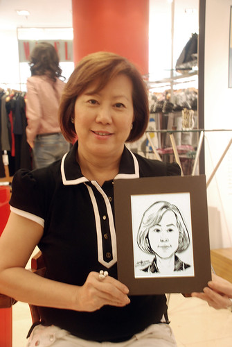 Portrait live sketching for Marella boutique - 14