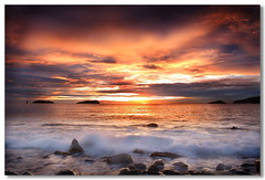 Before Dark (Dolly MJ) Tags: light sunset sky sun color beach water long waves expose borneo kotakinabalu redsky sabah cloudformation kk longexpose beautifulsunset sutera slowwater colorfulclouds northborneo landbelowthewind movingsky kotakinabalusunset sabahsunset sabahanphotographer borneosunset sunsetwithwaves beautifulkk