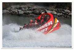 Shotover River Jet doing a 360 spin (Bernzfotos - Bernard Golder Photography) Tags: newzealand holiday nikon tourist nz southisland otago centralotago queenstown nikkor d300 nouvellezlande queenstownnz nikond300 nikkorvr70200mmf28 bernzfotos