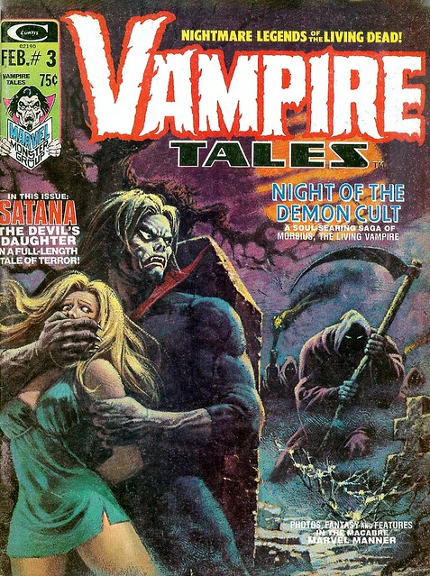 Vampire Tales 3 Morbius cover by Luis Dominguez 1973
