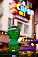 """standing on the corner of my block hustlin'."" (red.dahlia) Tags: losangeles hollywood jayz 50mmf14 bigpimpin vineandsunset nikond90 cafewas ivankanescafewas musicallychallenged standingonthecornerofmyblockhustlin dontmentionmynamewithoutaddingmetothephotoyouwhorishcornerwhore greenparkingmeter dontaddyourselftomyphotowithoutplacingyourselfinthedamnphotottooforfuckssaketarahowmanytimesdoihavetosaythis doiget50ofyourcornerprofitsthenilladdmyself"