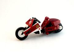 Dk Red & White Cyber-Bike