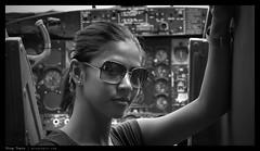 _N5_DSC0895bw copy (mingthein) Tags: portrait blackandwhite bw girl monochrome museum airplane force availablelight 5 aircraft sony air helicopter malaysia kuala 1855 alpha kl ming base pilot lumpur sungai besi nex onn tudm nadiah thein photohorologer mingtheincom
