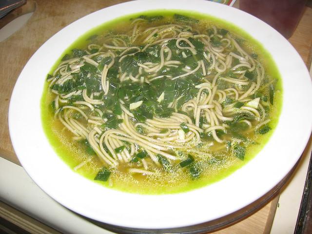 Malabar spinach soup
