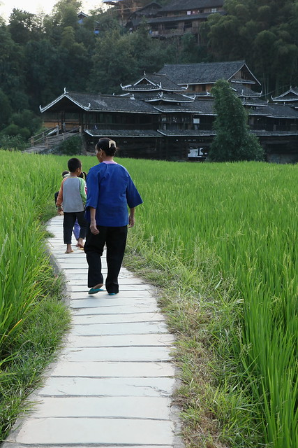Going home, Guangxi, China