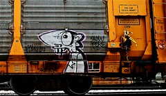Slow Poke (mightyquinninwky) Tags: railroad eye graffiti sketch crossing character tag teeth graf tracks railway tags tagged railcar rails graff pow fangs graphiti freight 07 2007 railroadcrossing inmotion slowpoke carcarrier trainart autorack holyroller rollingstock fr8 railart spraypaintart freightcar movingart freightart autoraxx paintedrailcar paintedfreight paintedautorack taggedrailcar autorax taggedautorack taggedfreight 11223344556677 carfireonflickr charactersformyspacestation trainsformyspacestation