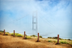 246/365: Happy Fence Friday {Golden Gate Bridge} Edition (pixelmama) Tags: sanfrancisco california bridge fog clouds september goldengatebridge frontpage gettyimages 2010 hff project365 fencefriday 3652010