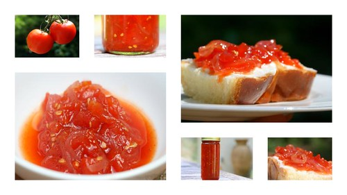 VERY RED Tomato jam (tomato, red onion, red wine vinegar, chili)
