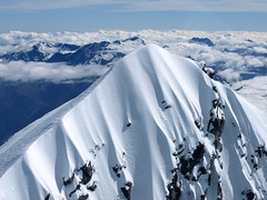 Mt Aspiring in summer (Mike Brebner) Tags: newzealand holiday snow mountains nature digital landscape photography photo nikon scenery view image photos scenic scene images auckland nz vista southisland southernalps 2009 d90 nikond90 january2009 wanakaarea wanakahelicoptersltd mtaspiringarea c2011mikebrebner
