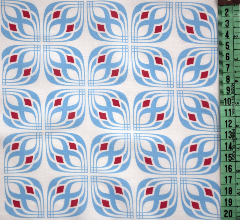 Deco Tile Blue & Red
