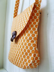 Julie Bag (i think sew 1) Tags: wood bag beads amy sewing label butler handbag making orenge