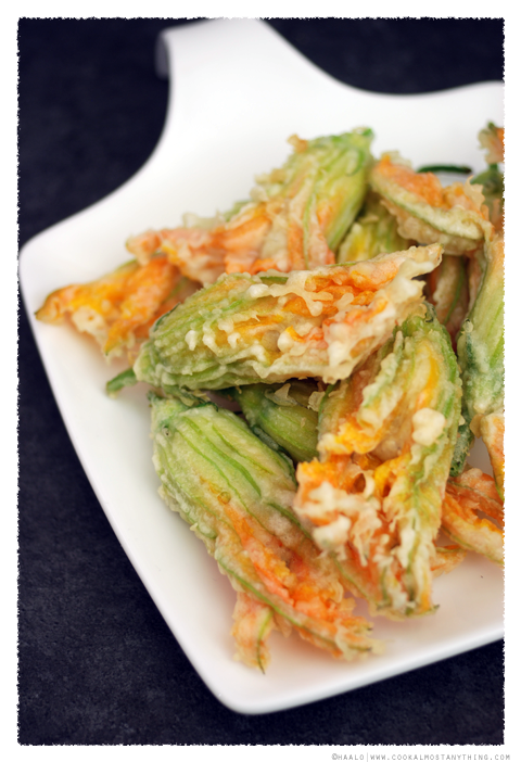 Baccala Stuffed Zucchini Flowers© by Haalo