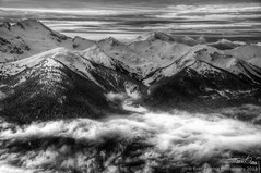 Mountains (Evan Gearing (Evan's Expo)) Tags: trees blackandwhite bw cloud mountain snow canada clouds landscape whistler nikon skiing bc snowy britishcolumbia peak nikkor 18200 hdr d300s evangearingphotography evansexpo