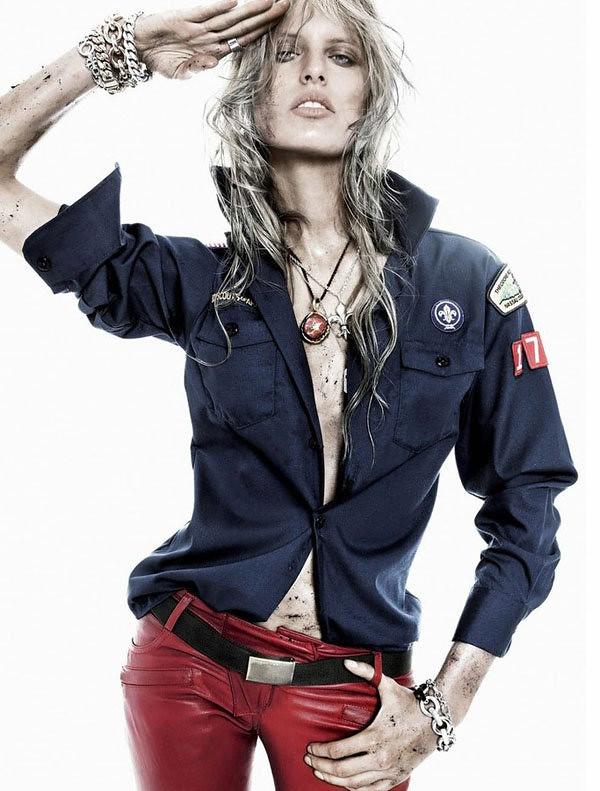 karolina-kurkova Vogue spain boy scout