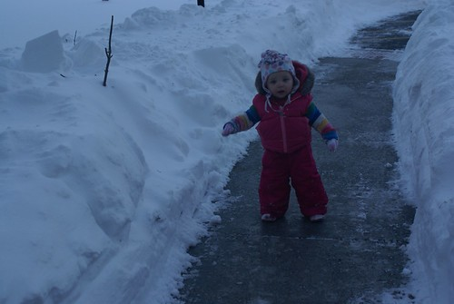 the snow is taller than me!